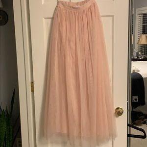 Morning Lavender Anabelle Dusty Rose Tulle Skirt